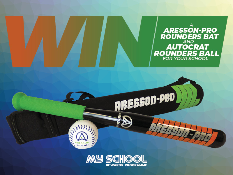 Win an Aresson-Pro Rounders bat and Autocrat Rounders ball